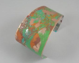 Multi-colored Patina Cuff Bracelet