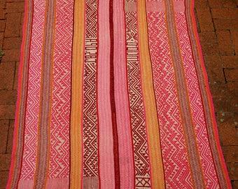 Peruvian Frazada // Rug // Textile (Pink 2)