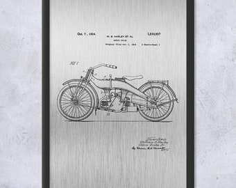 Super Glide Motorcycle Poster Print Motorcycle Gift Outlaw Biker Rot Rally