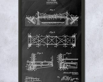 Arch Bridge Poster Print Architect Gift Structural Engineer Highway Department