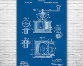 Coffee Grinder Poster Print, Coffee Mill, Barista Gift, Coffee Shop, Restaurant, Cafe Owner, Espresso Lover, Coffee Brewer, Moka Pot