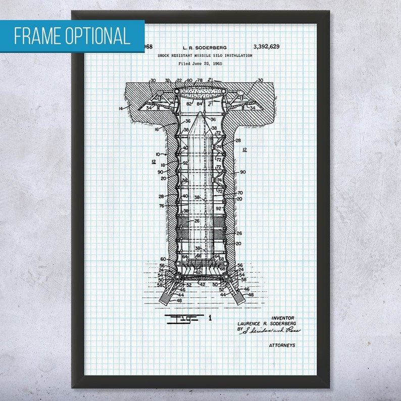 Missile Silo Poster Print Military Gift Launch Facility Icbm Missile Cold War
