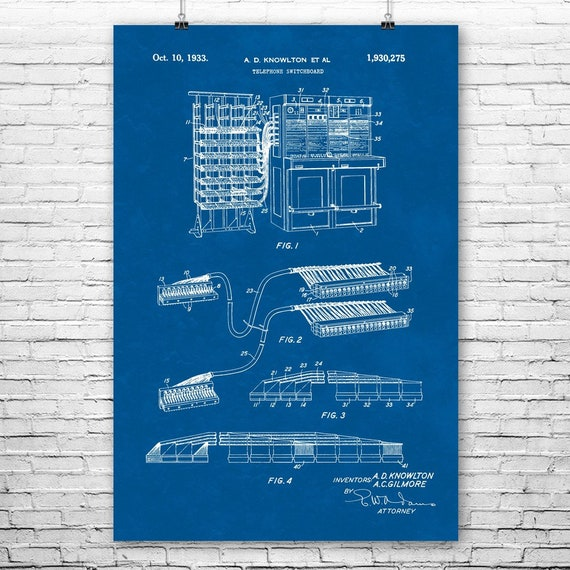 Telephone Switchboard Poster Print Telecom Gifts Old Time Phone Operator Gift