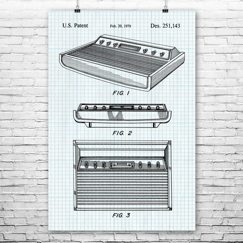 Atari 2600 Video Game Console Poster Print Classic Gaming Retro Gamer Gift