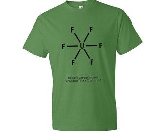 Uranium Hexafluoride UF6 Molecule T-Shirt Science, UF6 T-shirt, Uranium T-shirt, Nuclear T-shirt, Nuclear Power, Nuclear Bomb, Nuclear