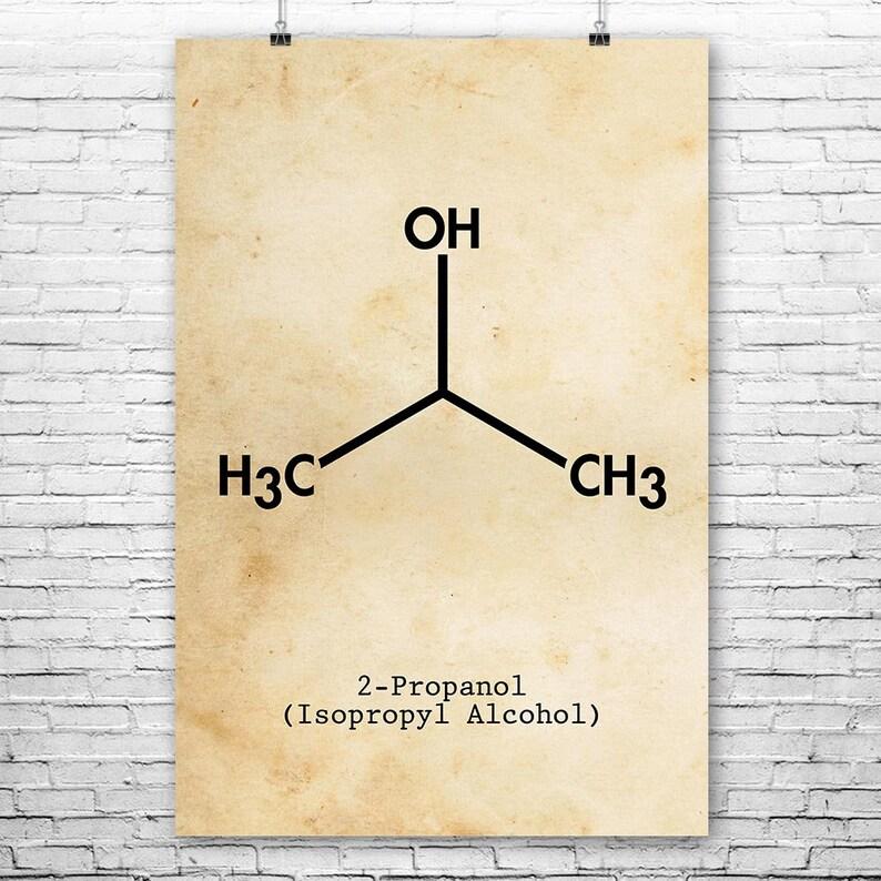 Alcool Isopropylique Molécule Poster Print Liso Alcool Etsy