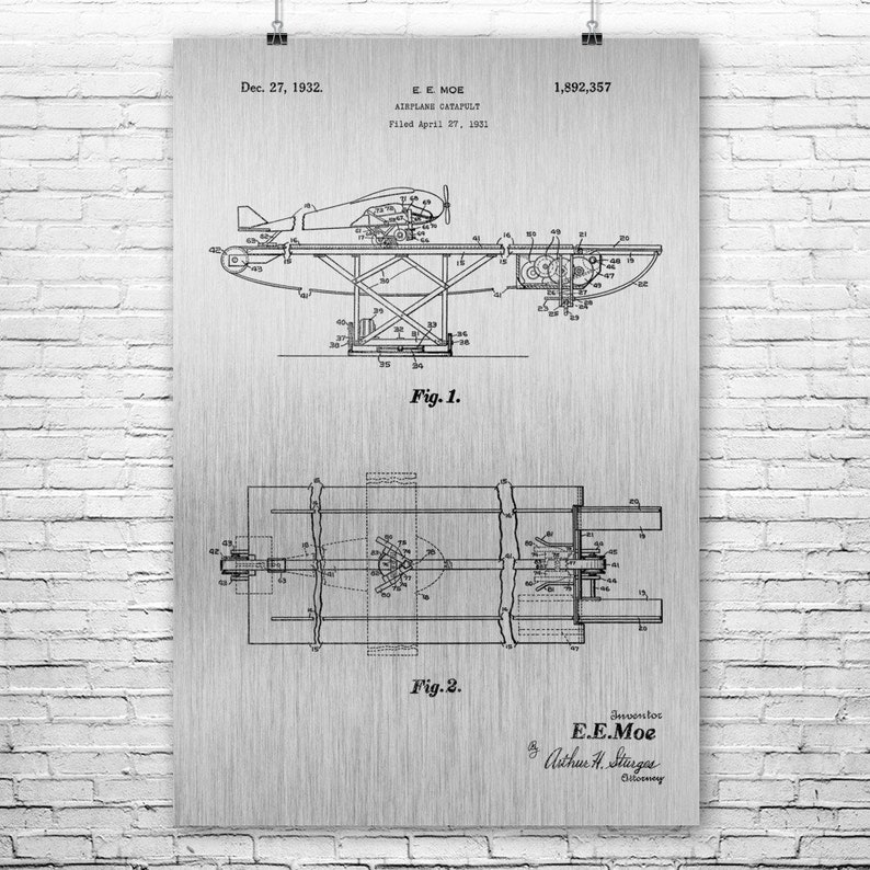 Aircraft Carrier Catapult Poster Print, Airplane Catapult, Air Force on