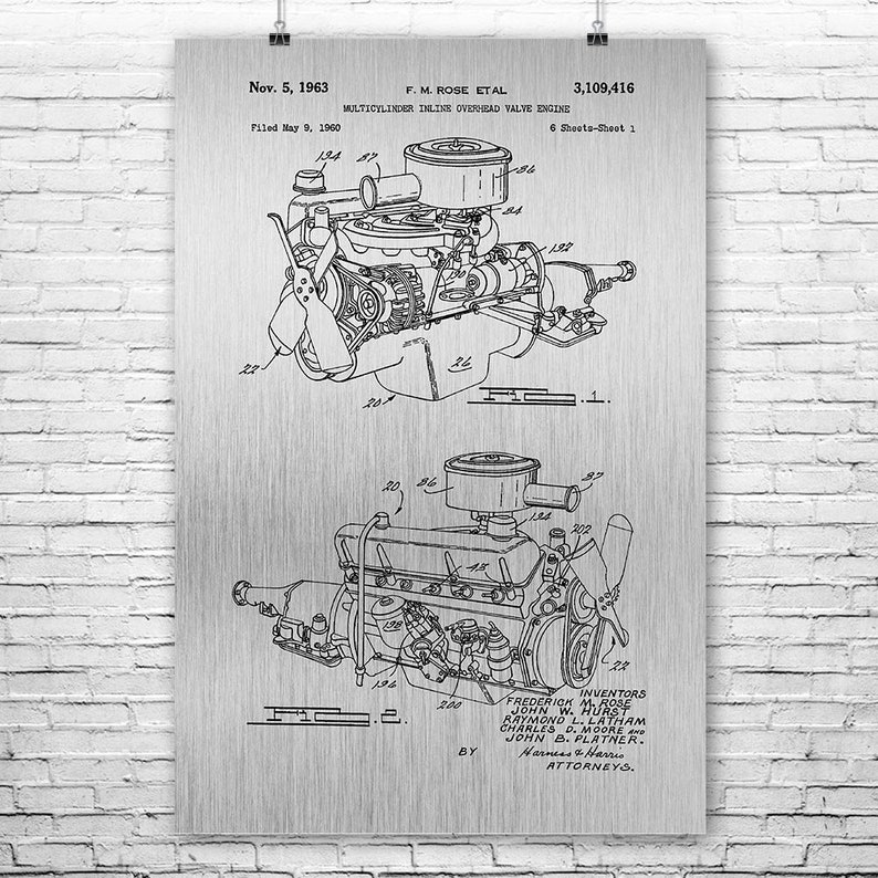 Chrysler 220 Slant Six Engine Poster Print, Mechanic Gift, Auto Enthusiast,  Car Lover, Gearhead, Classic Car, Repair Shop, Auto Body Shop