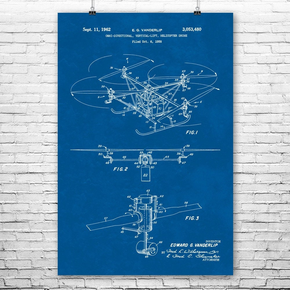 Quadcopter Drone Poster Print, Flying Gifts, Aviation Enthusiast, Pilot  Gift, Quadrotor Helicopter, Youtuber Gifts, Aerial Photography