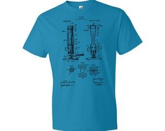 Bunsen Gas Burner T-Shirt, Bunsen Burner Shirt, Chemistry T-shirt, Bunsen, Science, Teacher, Patent, Gift, Patent Art, Patent T-shirt
