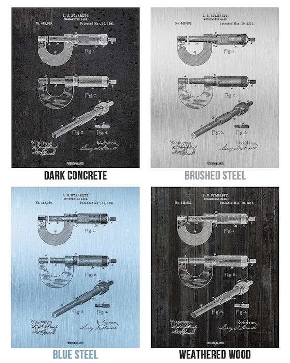 Starrett Micrometer Gage Poster Print Mechanical Engineer Math Science Teacher
