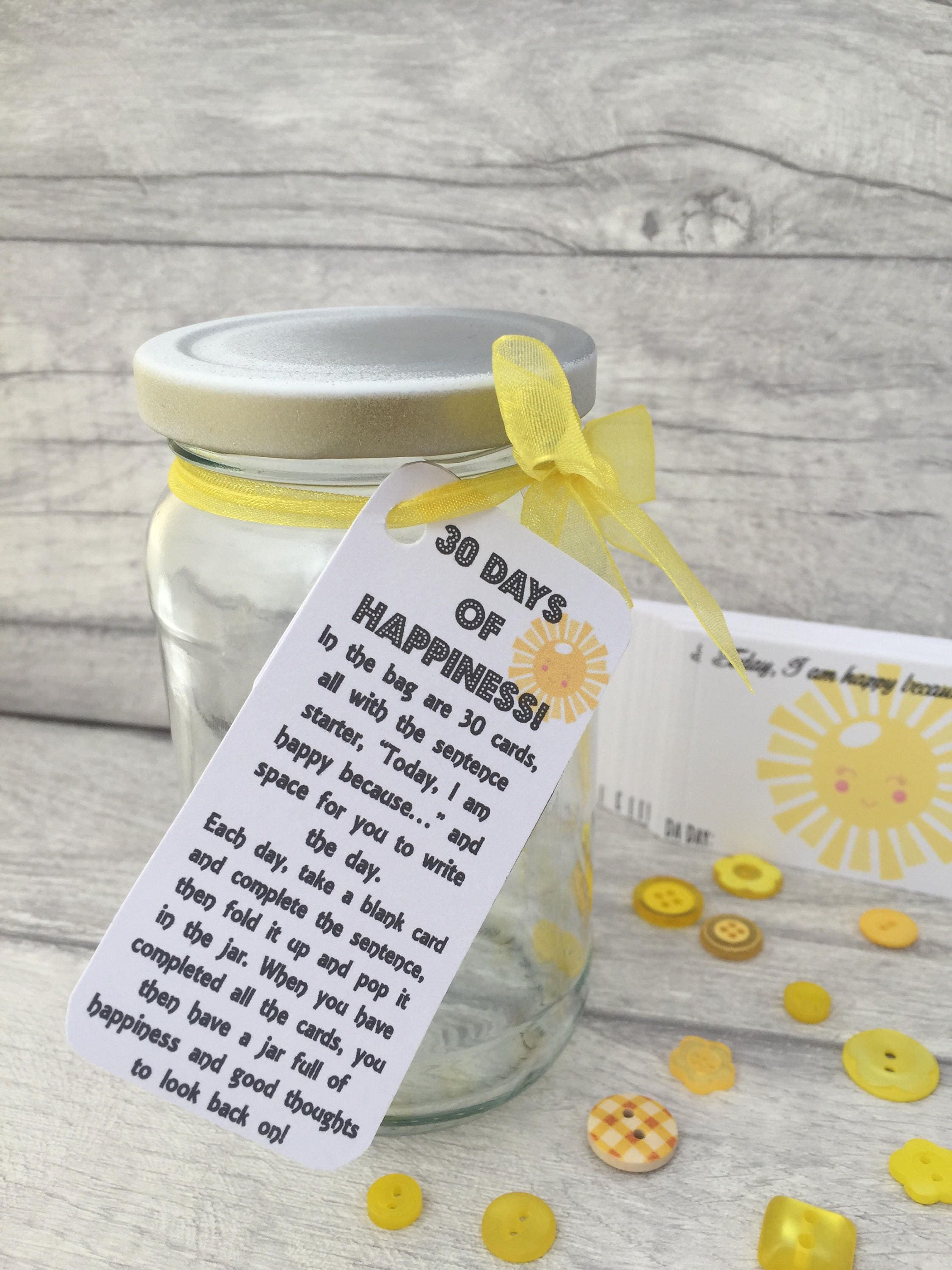 30 Days of Happiness Jam Packed Jars Happy Gift Self