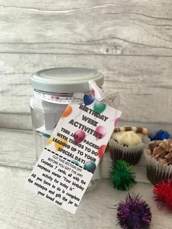 Birthday Week Activities SALE Jam Packed Jar