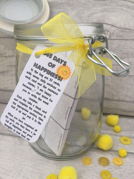 365 Days Of Happiness Jam Packed Jars Happiness Year Etsy