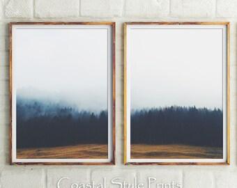 Wall Decor, Set Of 2 Prints,Forest Print,Landscape Photography,Print  Set,Large Wall Art,Bedroom Wall Art,Indigo,Prints Wall Art,Australia,NY