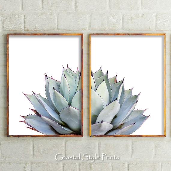 Cactus Print Set Of 2 Prints Wall DecorModern Home | Etsy