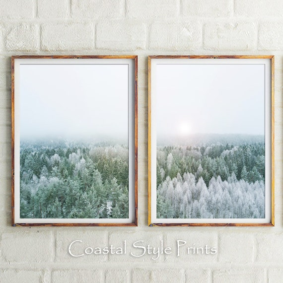Forest Of Dreams,Printable Forest Set Of 2,Forest Print,Forest Wall Art,Farmhouse Print,Landscape Photo,Large Wall Decor,Winter Home Decor