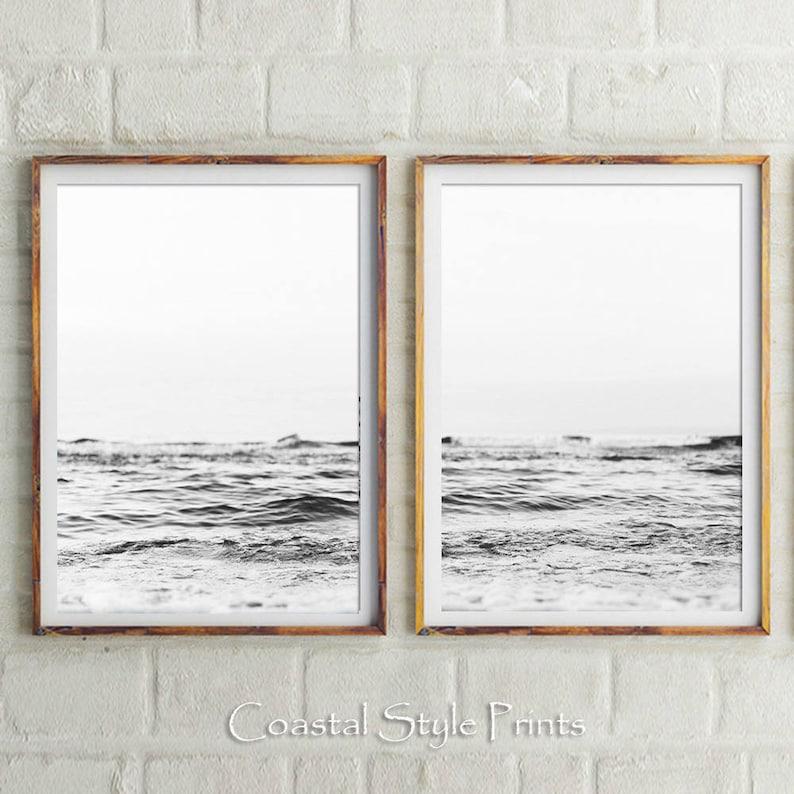 d08d520af1c Set Of 2 Beach Prints Black and White Prints Beach Print