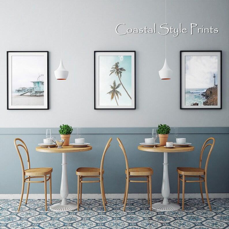 Coastal Print Set,Set Of 3 Prints,Beach Wall Art,Print Set,Coastal Wall Decor,Beach Decor,Wall Decor,Digital Download,Triptych Wall Art,Palm