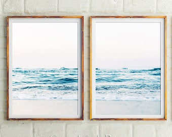 The original Beach Photography Set Of 2 Prints, Coastal, Beach Print,Ocean Print,Beach Decor,Beach Wall Art,Sea Prints,Wall Decor,Art Prints