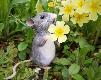 Sold Individually, Mouse, needle felted mouse, wool sculpture, mice, woodland creatures, needle felted animal, White mouse, felt animals