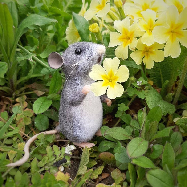 Sold Individually Mouse needle felted mouse wool sculpture image 1