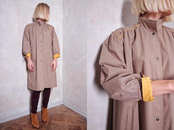 Long vintage coat | 80s coat | beige coat | women