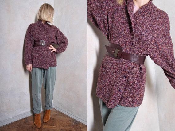 Purple vintage cardigan | boho cardigan | 60s card