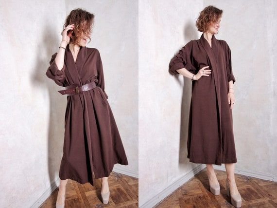 80s vintage long jacket | boho dress jacket | ret… - image 1