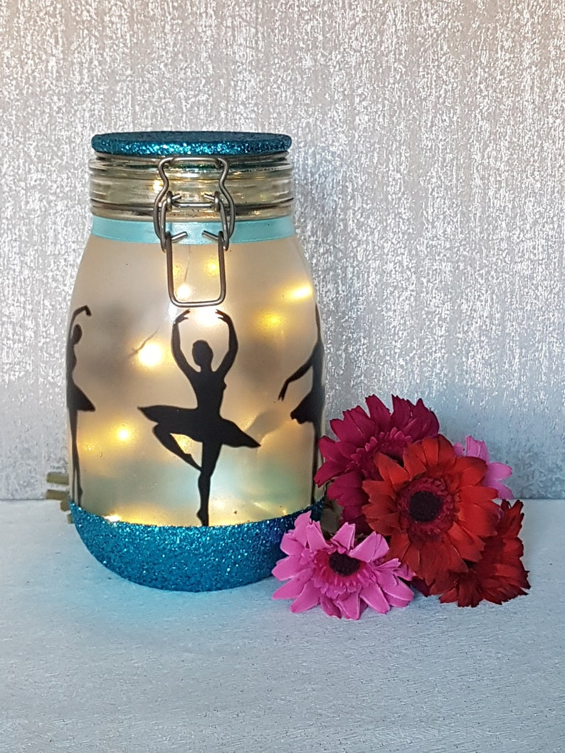 Ballerina Night Light Jar Little Ballerina Fairy Light Up Etsy