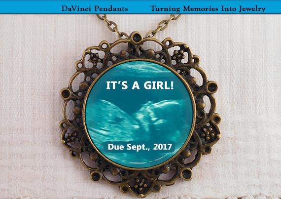 Grandma Gift Baby Sonogram jewelry Birth announcement Brooch Custom baby ultrasound Baby/'s first photo pregnancy Baby sonogram