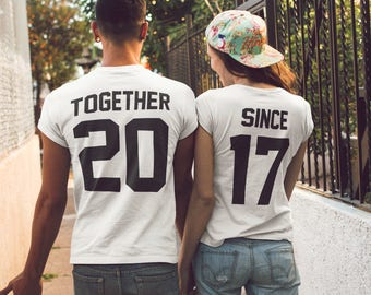 c0370de4 Together Since Couples Shirts Matching Tees for Couple, Family Matching  Tshirt for Couples - Summer Vacation Tees, Unisex adult Gifts