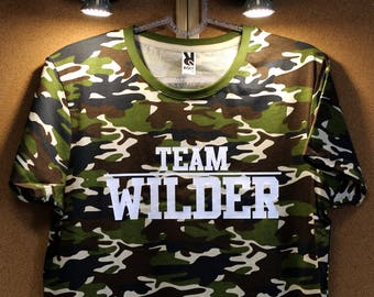 a95c5aa4a Deontay Wilder Shirt, Bomb Zquad T-shirt, Boxing Camo Tshirt Deontay Wilder  Jersey 100% Cotton Wilder Camouflage t-Shirt