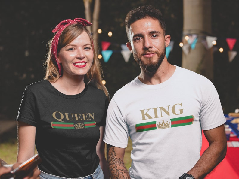 cc497b1039 Summer Vacation Matching Couples Tees King Queen Shirts   Etsy
