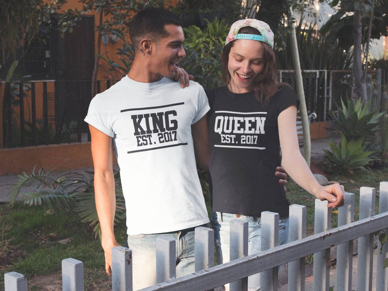 3b6b98d741 King Queen Shirts for Couples Matching Tees King Queen Summer   Etsy