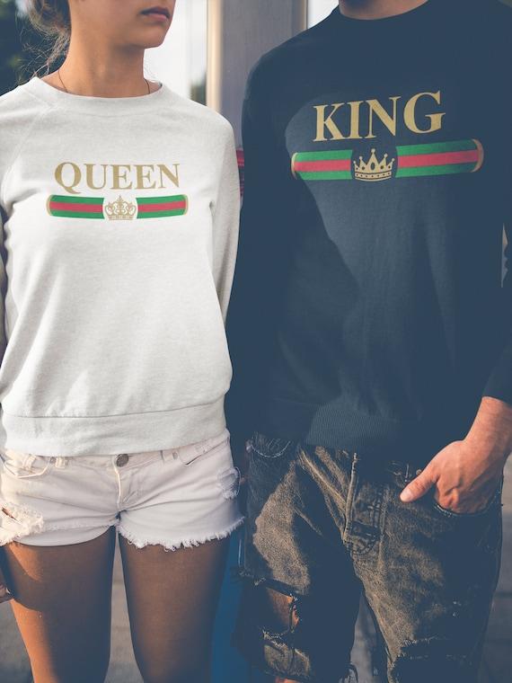Famiglia Abbigliamento Re Di Regina Etsy Corrispondenza Felpe wnq0qF8E7