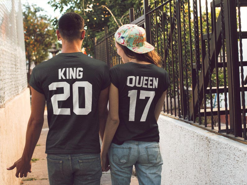6e369c16a1 King Queen Shirts King and Queen Couple Shirts Matching | Etsy