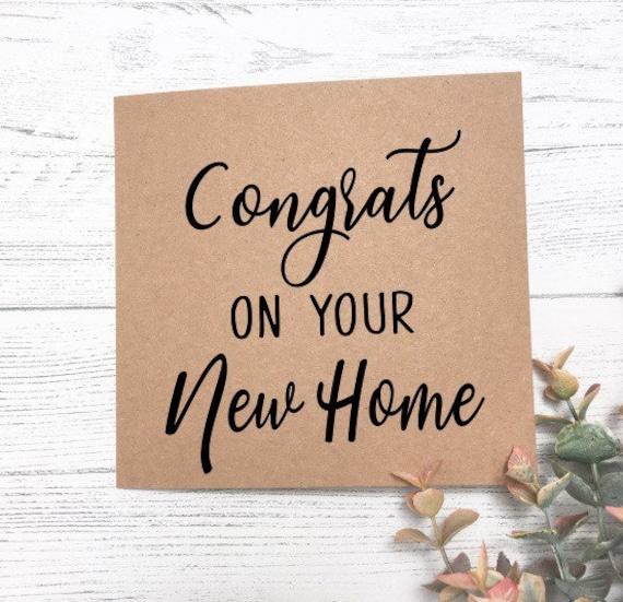 Neue Heimat Karte Gratulation Auf Neues Zuhause Glückwunschkarte Umzug Neues Haus Karte Housewarminggeschenk Erste Haus Karte