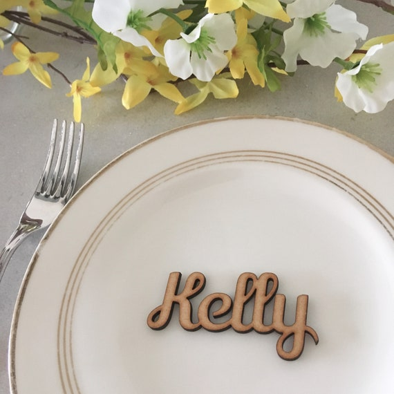 Table Name Plaques and Favours Wood Wedding Place Setting Decorations