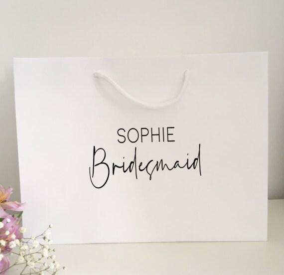Bridesmaid Proposal Bridesmaids. Weddings Large Gift Bag personalised