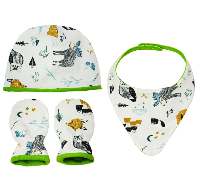 woodland baby shower baby bandana bib stay on baby booties fox baby shower organic baby clothes New mom gift basket boho baby clothes