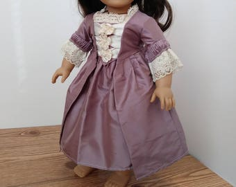 One Left!** Purple Colonial Gown Set For 18 Inch Dolls