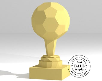 printable diy template pdf sports trophy star low poly etsy