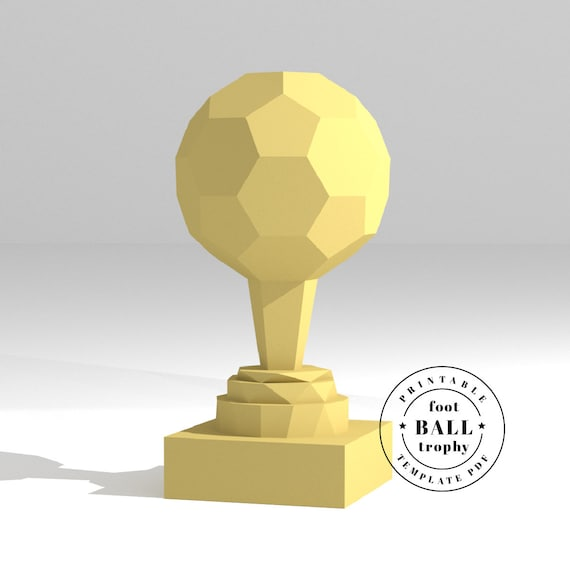 printable diy template pdf sports trophy soccer ball etsy