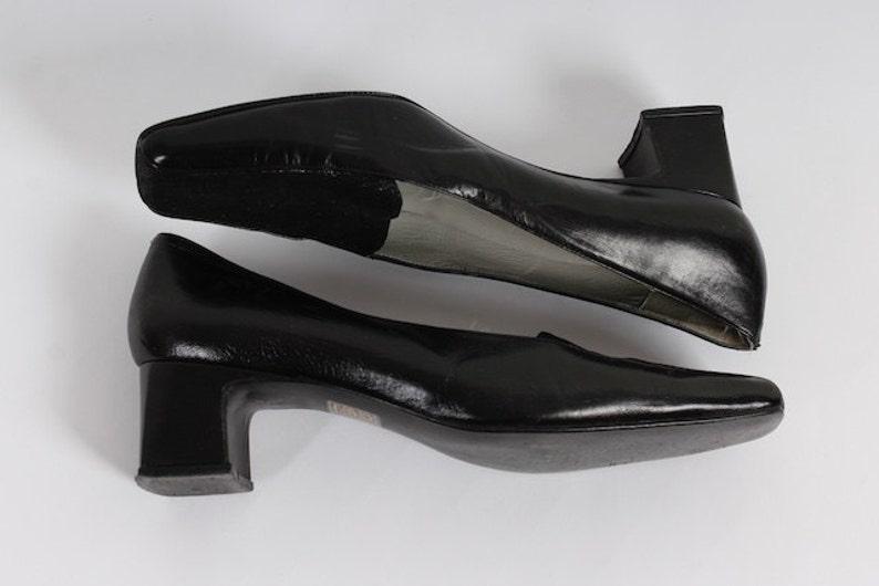 Eur Tacón 5 Zapatos De Mocasines U s7 39 Uk Boho Vintage Cuero 5 Estructural 5 Negro Grueso Hippie 6 qVjLpSUzMG
