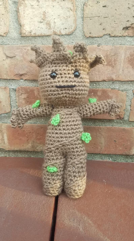 be945ff19 I am Groot Baby Groot Amigurumi Baby Groot Crochet Toy Baby | Etsy