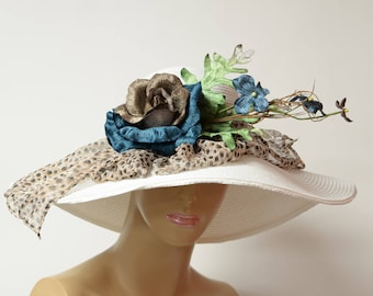 Kentucky derby hat, summer hat, soft,light and comfortable,