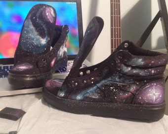 Hand Painted Galaxy Hightops.