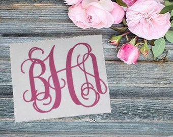 Monogram Vinyl Decal | Monogram Vinyl Sticker | Monogram Sticker | Yeti Cup Decal | Yeti Cup Monogram | Custom Decal