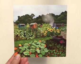 Autumn Allotment Greetings Card